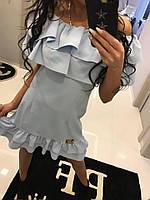 Платье Летнее Мини с воланами Paparazzi Открытые плечи