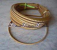 Заготовка для обруча металл в косой ленте золотистый ширина 0,5 см