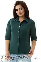 Льняная рубашка большого размера Paris зеленый