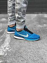 Мужские кроссовки Nike Flyknit Racer Chlorine Blue 526628 414, Найк Флайнит, фото 3