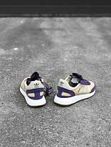 Женские кроссовки Adidas Iniki I-5923 Runner Boost Purple White BA9995 , Адидас Иники Ранер I-5923, фото 2