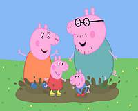 Картины по номерам для детей Свинка Пеппа Купание (BK-GX5468) 40 х 50 см [Без коробки]