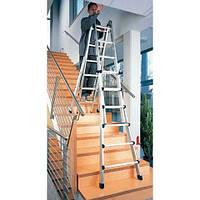 Телескопическая алюминиевая лестница 4х3