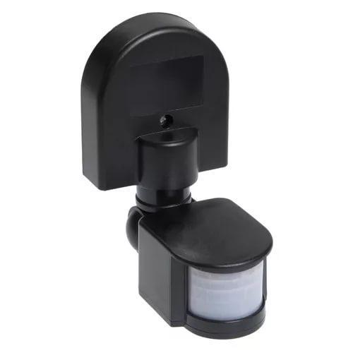 Датчик движения ДД 008 черный, макс. нагрузка 1100Вт, угол обзора 180град., дальность 12м, IP44, ИЭК