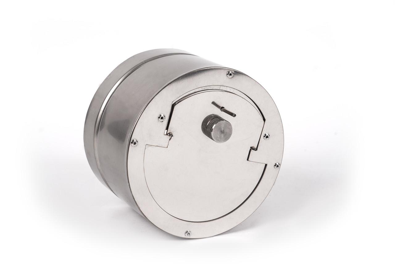 Регулятор тяги с нержавеющей стали одностенный 0,5 мм, AISI 201, 140