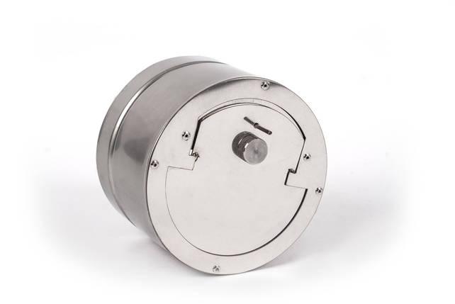 Регулятор тяги с нержавеющей стали одностенный 0,5 мм, AISI 201, 140, фото 2