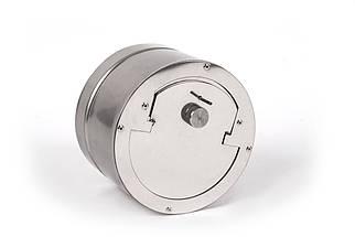 Регулятор тяги с нержавеющей стали одностенный 0,5 мм, AISI 201, 120