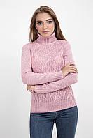 Теплый женский свитер с высоким воротником