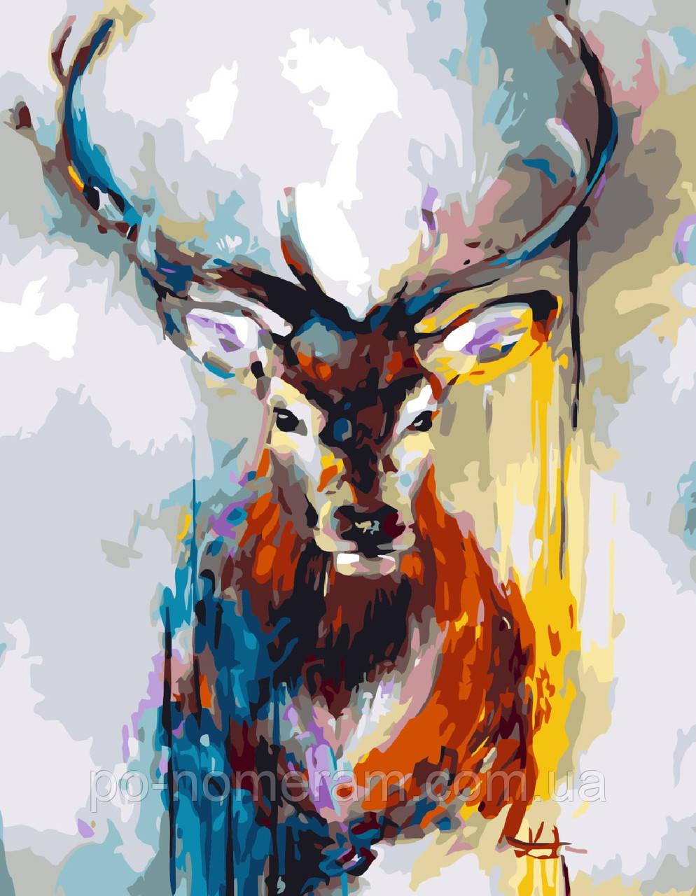 Раскраска по цифрам Красочный олень (BRM465) 40 х 50 см ...