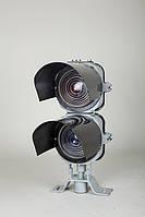 Головка карликового линзового светофора без щита двузначная ч.7061М-20-00
