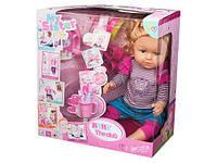 Кукла функциональная пьет, писает, парикмахерский набор, в коробке 36,5*20,0*38,0см (