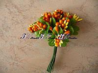 Добавка тычинка оранжевая комбинированная с круглым листом