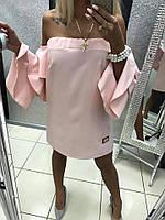 Платье женское Paparazzi Длинный рукав Клеш Розовое