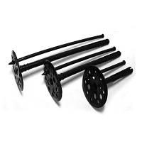 Крепление для пенопласта черное с пл. гвоздем 10*90 мм (100 шт)