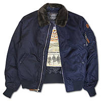 Бомбер Top Gun B-15 Men's Heavy Duty Vintage Flight Bomber Jacket (синий)