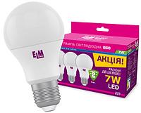 Светодиодная лампа ELM 7W E27 4000K пак 3шт