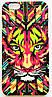 Чехол на Айфон 5/5s/SE Luxo Face приятный Пластик светится в темноте Тигр
