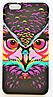 Чехол на Айфон 5/5s/SE Luxo Face приятный Пластик светится в темноте Сова