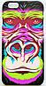 Чехол на Айфон 5/5s/SE Luxo Face приятный Пластик светится в темноте Горилла