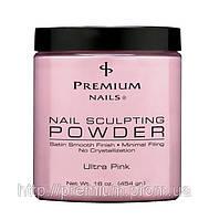 Акриловая пудра Premium Ultra Pink насыщенная розовая, 454 г