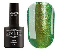 Гель-лак Komilfo DeLuxe Series №G010 (зеленый, насыщенный микроблеск с легким золотистым переливом), 8 мл