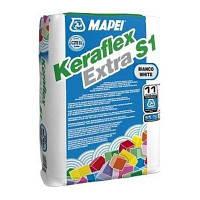 Клей для плитки Керафлекс Экстра C1/23 белый (Keraflex Extra S1/23) Mapei (23 кг)