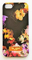 Чехол на Айфон 5/5s/SE Ted Baker soft touch стильный Пластик Цветы, фото 1