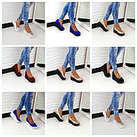 Туфли на платформе, Натуральный замш, внутри кожа разные цвета