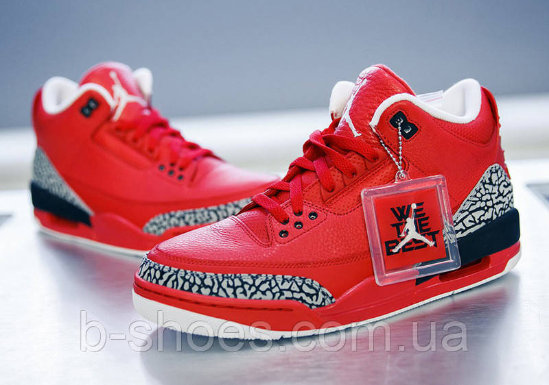 Мужские кроссовки Air Jordan Retro 3 (Red)