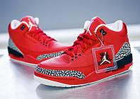 Мужские кроссовки Air Jordan Retro 3 (Red), фото 1