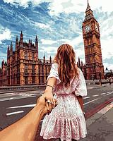 Набор для раскрашивания Турбо Следуй за мной. Лондон худ. Мурад Османн (VP706) 40 х 50 см