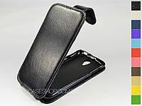 Откидной чехол из натуральной кожи для Lenovo S650