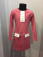 Повседневное платье для девочки с длинным рукавом