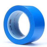 Виниловый скотч 3М 471 для разметки пола 50мм х 33м синий цвет