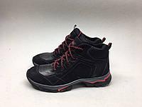 Мужские ботинки ECCO черно-красные
