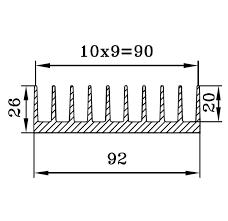 Радиатор алюминиевый 92х26 30 см.