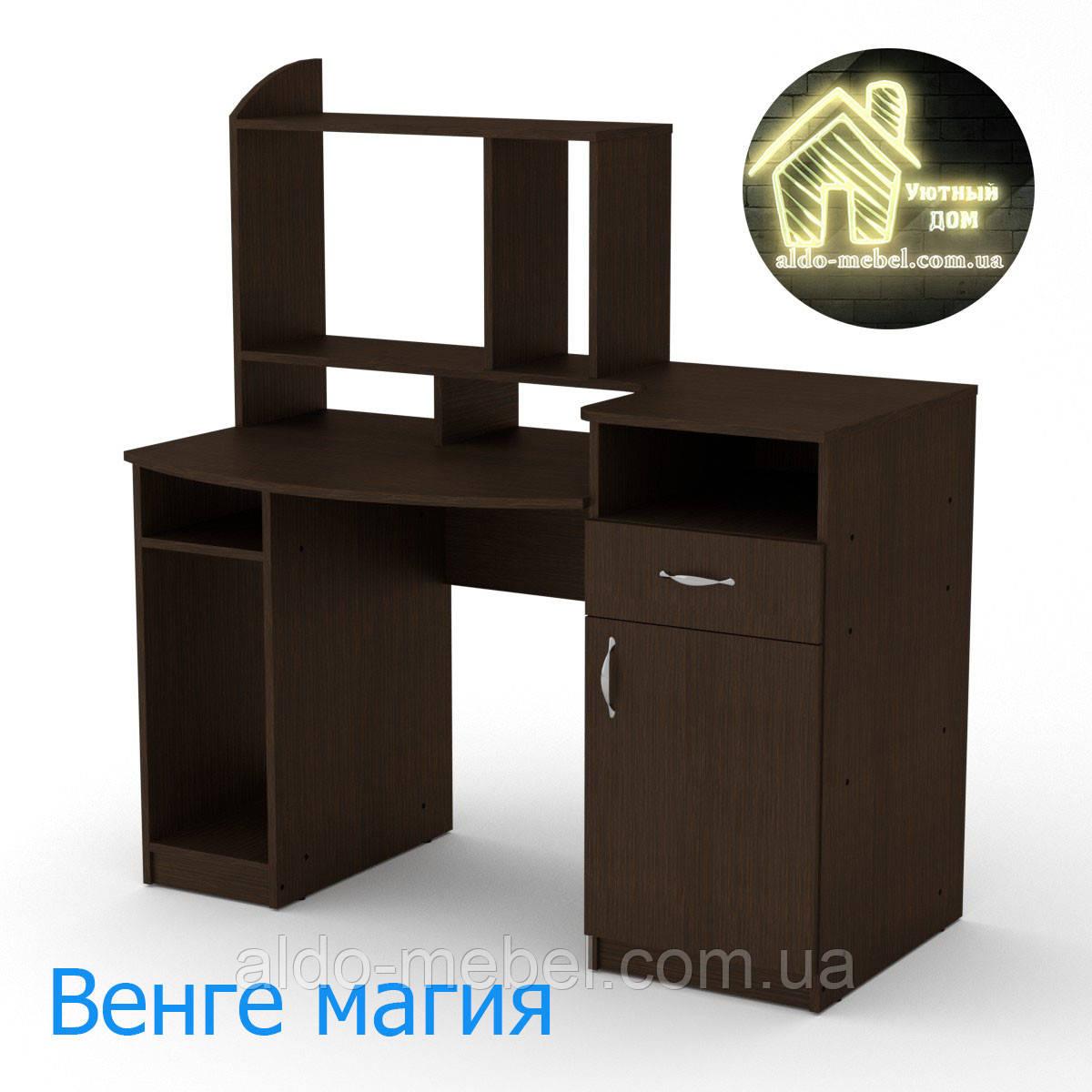 Стол компьютерный Комфорт - 2 Габариты Ш - 1286 мм; В - 756 + 630 мм; Г - 700 мм (Компанит)