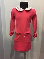 Платье с кружевным воротником 134,152 см