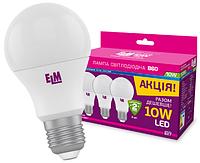 Светодиодная лампа ELM 10W E27 4000K пак 3шт