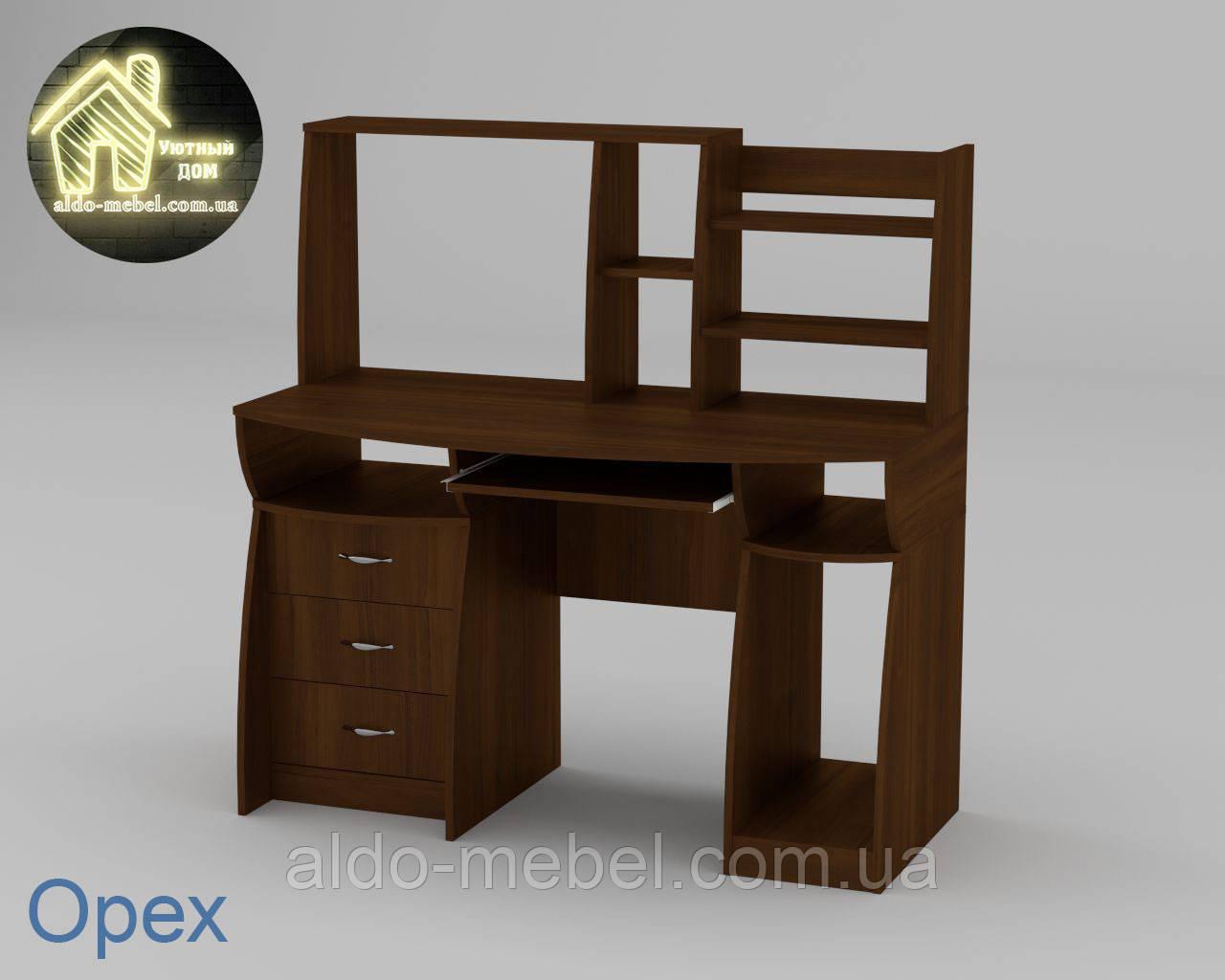 Стол компьютерный Комфорт - 3 Габариты Ш - 1310 мм; В - 809 + 516 мм; Г - 700 мм (Компанит)
