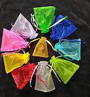Мешочки ювелирные из органзы 7х9 см. Цена за 100 шт. Микс цветов. Производство Украина.