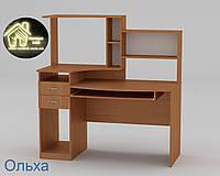 Стол компьютерный Комфорт - 4 Габариты Ш - 1334 мм; В - 756 + 660 мм; Г - 700 мм (Компанит)