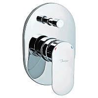 Смеситель скрытого монтажа для ванны  Jaquar Opal Prime  Хром