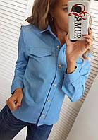 Рубашка женская джинсовая СО/-0182