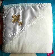 Крыжма софт атлас уголок золото Textile plus