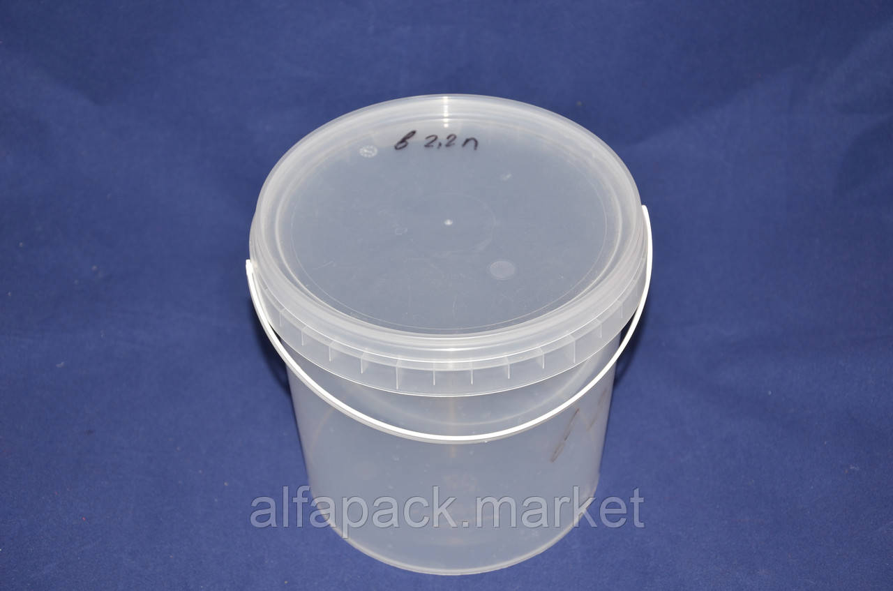 Ведро 2,2 л. пластиковое для пищевых продуктов 020000033
