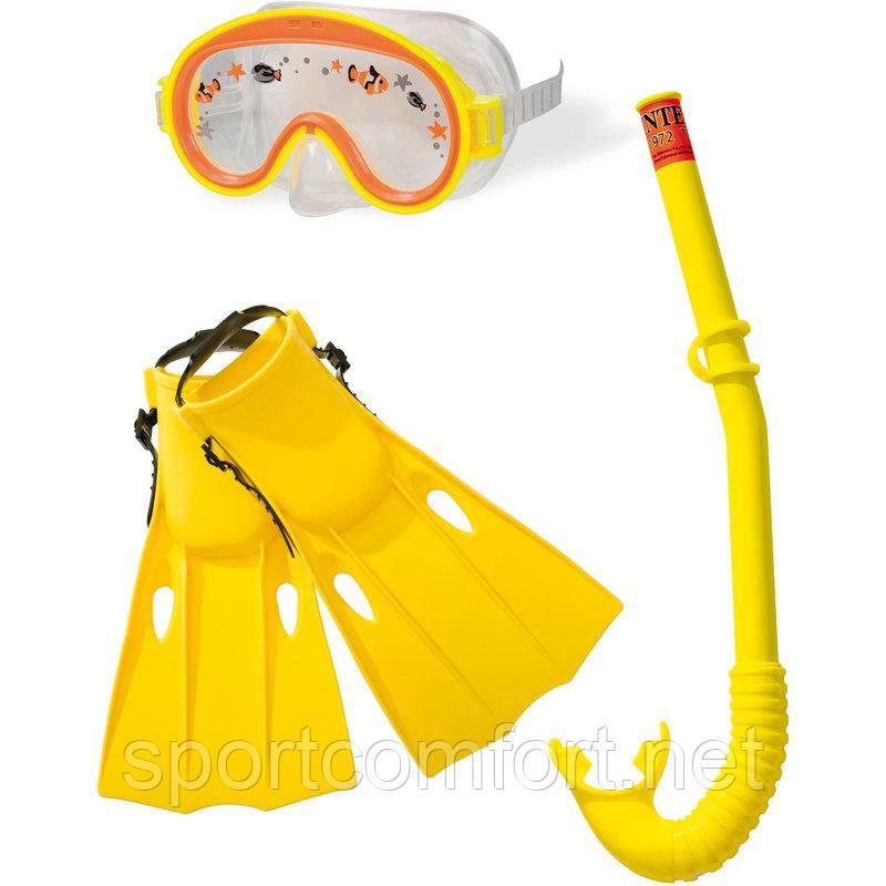 Ласты, маска и трубка Intex детские
