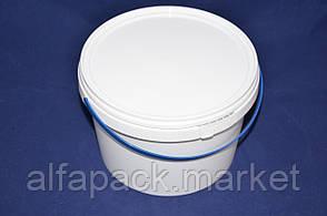 Ведро 2,3 л. пластиковое для пищевых продуктов, белое 020000035