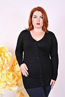 Кофта женская большого размера 942, черная женская кофта большого размера