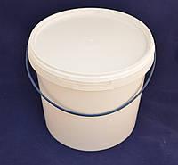 Ведро пластиковое пищевое белое 5 л.
